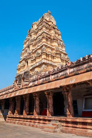 The Group of Monuments at Hampi was the centre of the Hindu Vijayanagara Empire in Karnataka state in India 版權商用圖片
