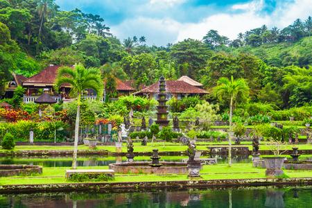Tirta Gangga water park in Bali island in Indonesia