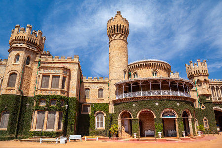 Bangalore Palace is a british style palace located in Bangalore city in Karnataka, India