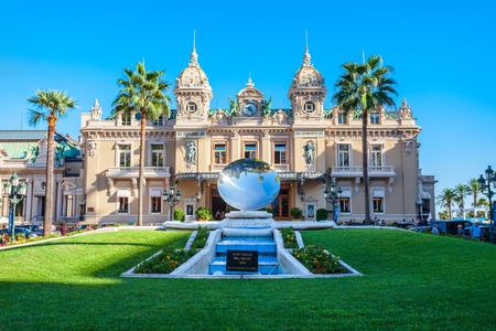 MONACO - SEPTEMBER 26, 2018: Monte Carlo Casino is an entertainment complex includes casino, Grand Theatre and Les Ballets de Monte Carlo in Monaco