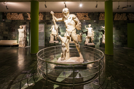 ANTALYA, TURKEY - SEPTEMBER 14, 2014: Antalya Archeological Museum is one of Turkey's largest museums located in Antalya city in Turkey Banque d'images - 122441853