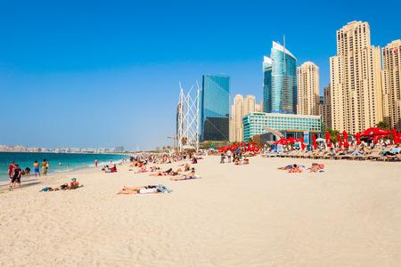 DUBAI, UAE - FEBRUARY 25, 2019: JBR or Jumeirah Beach Residence is a waterfront community located in Dubai Marina in UAE Éditoriale
