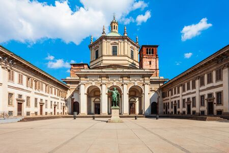 The Basilica of San Lorenzo Maggiore is a roman catholic church in Milan city in Lombardy region of northern Italy Stock fotó