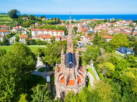 Chapel Pantheon of the Marquises of Comillas or Capilla Panteon de los Marqueses de Comillas in Comillas, Cantabria region of Spain Stock Photo