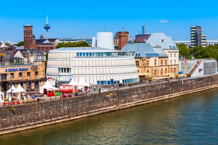 COLOGNE, GERMANY - JUNE 30, 2018: Imhoff Chocolate Museum located in Rheinauhafen district in Cologne, Germany Editorial