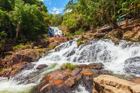 Datanla Waterfall located near the Dalat city in Vietnam