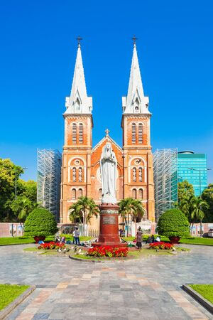 Notre Dame Cathedral Basilica of Saigon or Cathedral Basilica of Our Lady of The Immaculate Conception in Ho Chi Minh City, Vietnam