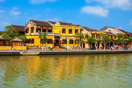 Hoi An ancient town riverfront in Quang Nam Province of Vietnam