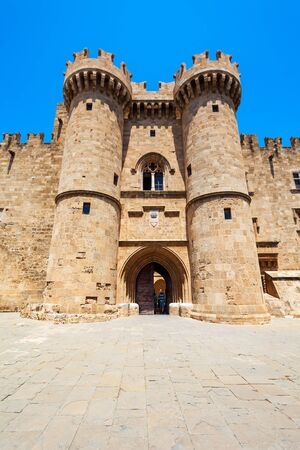 Palace of the Grand Master in the old town of Rhodes in Rhodes island in Greece