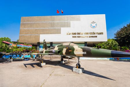 HO CHI MINH, VIETNAM - MARCH 08, 2018: The War Remnants Museum is a war museum in District 3 in Ho Chi Minh City or Saigon in Vietnam Редакционное