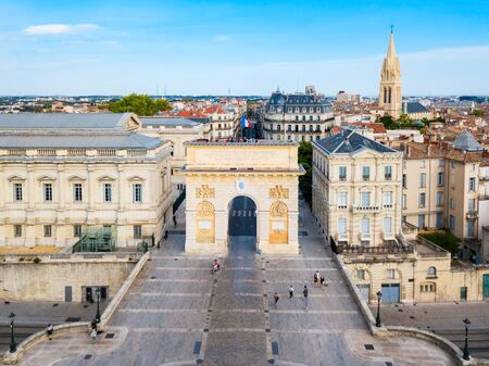Triumphal Arch or Arc de Triomphe in Montpellier city in France