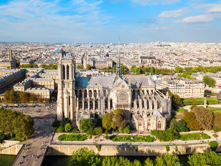 Notre Dame de Paris or Notre-Dame Cathedral is a medieval Catholic cathedral in Paris, France 免版税图像