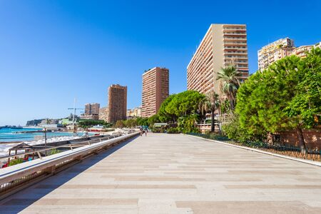 Monte Carlo promenade in Monaco, country on the French Riviera near France in Europe Banque d'images - 129569141