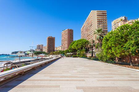Monte Carlo promenade in Monaco, country on the French Riviera near France in Europe 版權商用圖片