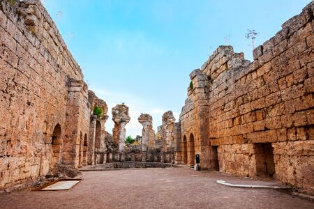 Perge was an ancient Anatolian city, now located near the Antalya city in Turkey 写真素材 - 129469911