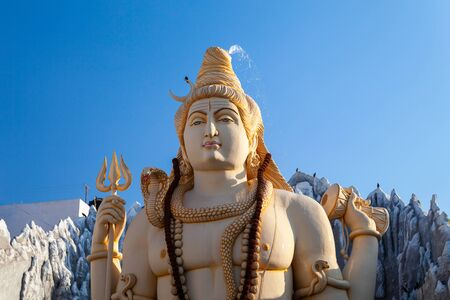 Lord Shiva statue at the Shivoham Shiva Temple, located in Bangalore city in Karnataka, India