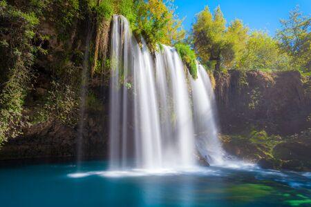 Duden waterfall park in Antalya city in Turkey Archivio Fotografico - 129469920
