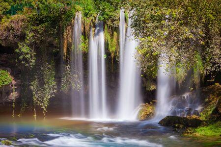 Duden waterfall park in Antalya city in Turkey Archivio Fotografico - 129469875