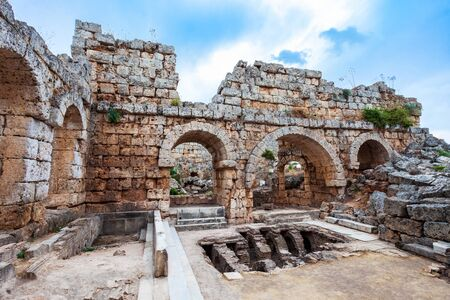 Perge was an ancient Anatolian city, now located near the Antalya city in Turkey 写真素材