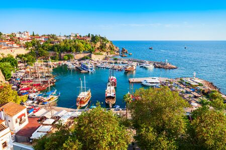 Port in Antalya old town or Kaleici in Turkey