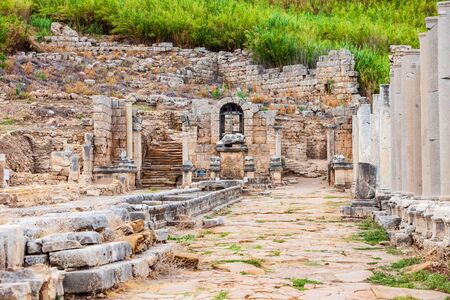 Perge was an ancient Anatolian city, now located near the Antalya city in Turkey 写真素材 - 129469551