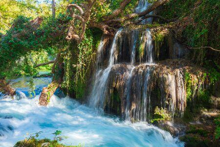 Duden waterfall park in Antalya city in Turkey Archivio Fotografico - 129469468