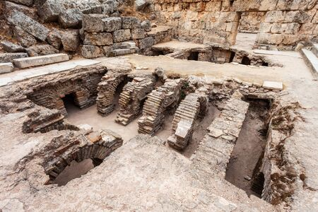 Perge was an ancient Anatolian city, now located near the Antalya city in Turkey 写真素材 - 129469382