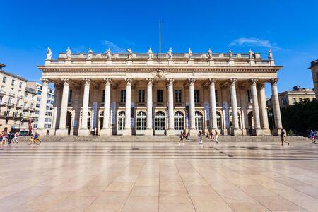 BORDEAUX, FRANCE - 17 SEPTEMBRE 2018 : Grand Théâtre de Bordeaux est un théâtre principal au centre de la ville de Bordeaux en France