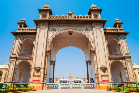 Mysore Palace is a historical palace and a royal residence at Mysore in India Editorial