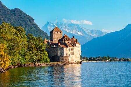 Chillon Castle or Chateau de Chillon is an island castle located on Lake Geneva near Montreux town in Switzerland