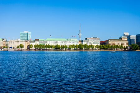 Hamburg city centre panoramic view in Germany Standard-Bild