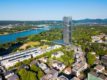 Bundesviertel federal government district aerial panoramic view in Bonn city in Germany Zdjęcie Seryjne