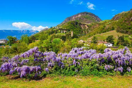 Public park in Bolzano. Bolzano is the capital city of the South Tyrol province in northern Italy.