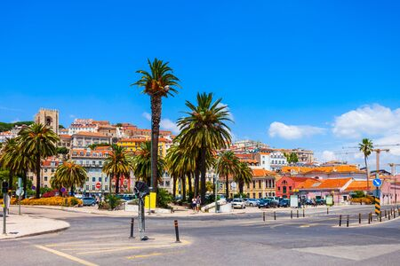 Lisbon cityscape panoramic view. Lisbon or Lisboa is the capital and the largest city of Portugal.