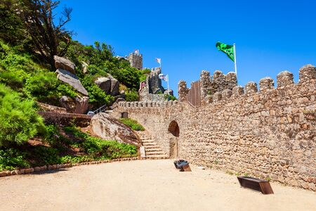 Castle of the Moors or Castelo dos Mouros is a hilltop medieval castle in Sintra town near Lisbon, Portugal
