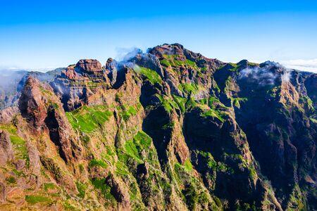 Pico do Arieiro to Pico Ruivo trek landscape in Madeira island, Portugal