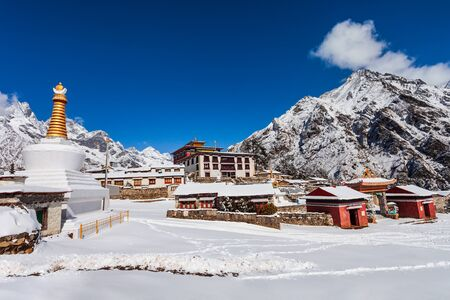 Tengboche Monastery is a tibetan buddhist monastery in Tengboche village in Everest region of Nepal