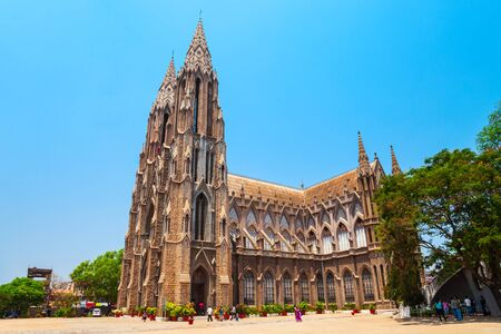 St. Philomena Cathedral is a catholic church located in Mysore city in India Stockfoto