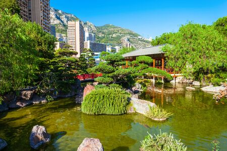 Japanese Garden or Jardin Japonais is a municipal public park in Monte Carlo in Monaco