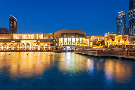 DUBAI, UAE - FEBRUARY 24, 2019: The Dubai Mall is the second largest shopping mall in the world located in Dubai in UAE Редакционное