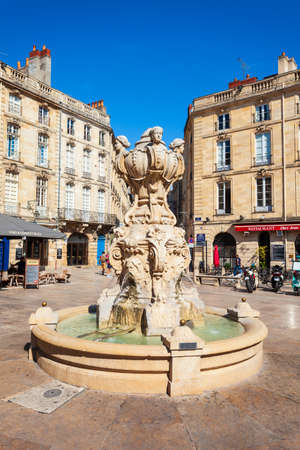 BORDEAUX, FRANCE - SEPTEMBER 17, 2018: Parliament Square in the centre of Bordeaux city in France