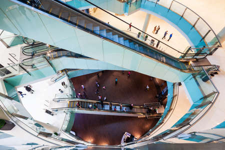 DUBAI, UAE - FEBRUARY 25, 2019: The Dubai Mall interior, the second largest shopping mall in the world located in Dubai in UAE