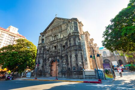 Malate Church or Our Lady of Remedies Parish Church in the Malate district of Manila city in Philippines