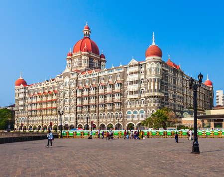 MUMBAI, INDIA - FEBRUARY 21, 2014: Taj Mahal Palace Hotel is a five star luxury hotel in Mumbai city, Maharashtra state of India