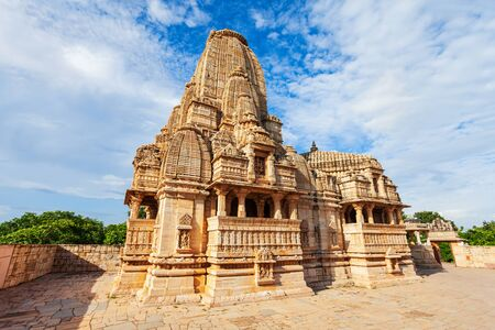 Meera Temple is a hindu temple in Chittor Fort in Chittorgarh city, Rajasthan state of India Foto de archivo