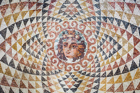 ANCIENT CORINTH, GREECE - OCTOBER 18, 2016: The Archaeological Museum of Ancient Corinth is a museum in Greece. Ancient Corinth was one of the largest cities of Greece.