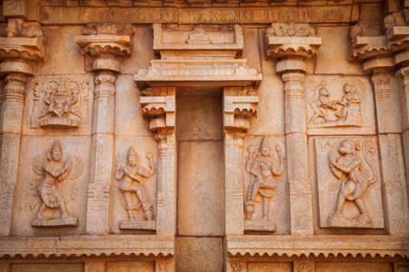 The Group of Monuments at Hampi was the centre of the Hindu Vijayanagara Empire in Karnataka state in India 版權商用圖片