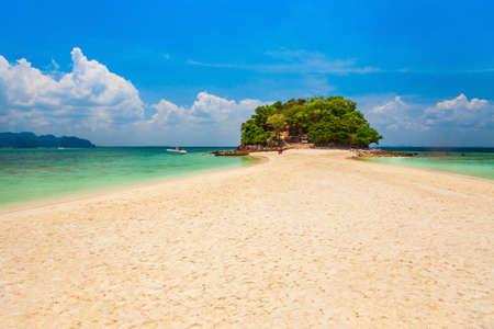 Beauty beach with yellow sand and crystal clear water in Thailand