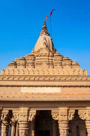 Shiva Temple is located at the Ganges river in Varanasi city, Uttar Pradesh state, North India