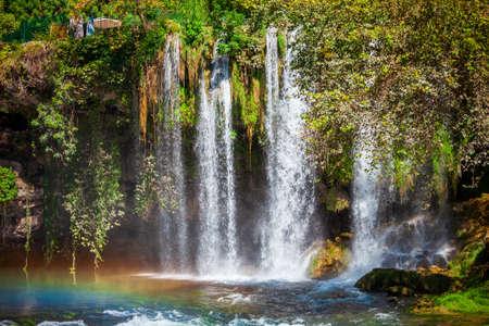Duden waterfall park in Antalya city in Turkey